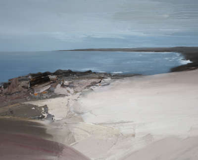 Bushe C Coastal Walk Carraig Bhan Oil On Cancas 100X138
