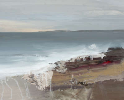 Bushe C Evening Tide Cladach Fionn Oil On Board 103X74