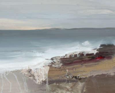 Bushe C Evening Tide Cladach Fionn Oil On Board 103X74
