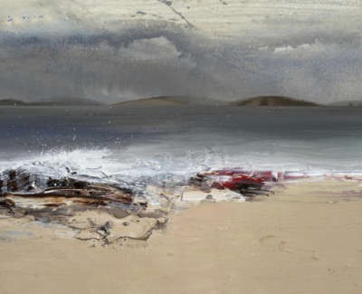 Bushe C Fresh Winds And Asurging Sea Rubha Dubh Mixed Media 36X26
