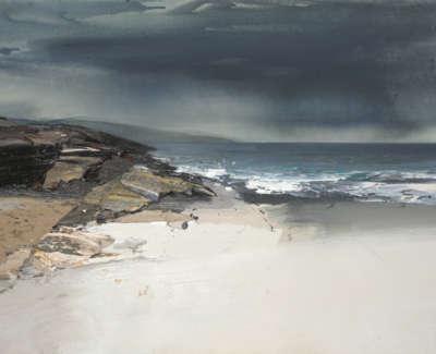Bushe C Gentle Rain White Sands Islay Mixedmedia 75X53Cm