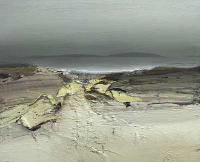 Bushe C Grey Evening And Apale Beach Ardnave Oil On Board 60X50