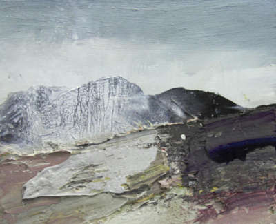 Bushe C Ocean Spray And Battered Rocks Islay Mixed Media 36X36