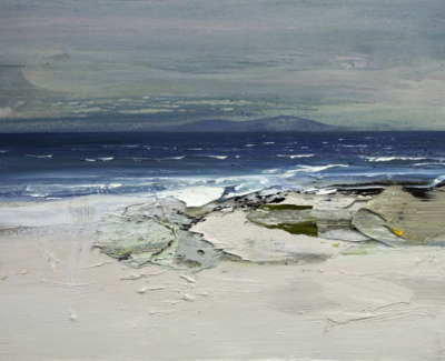 Bushe C Pinks And Blues Colonsay Mixed Media 74X51
