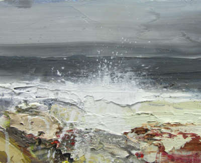 Bushe C Squally Day Laggan Bay Oil On Board 36X26