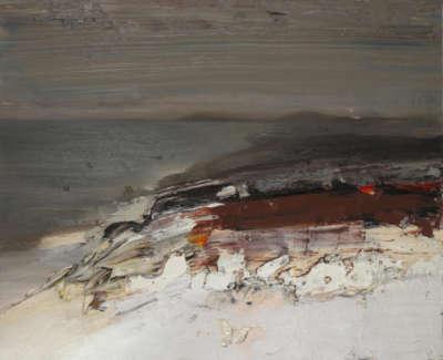 Bushe C The Shoreline Glowed In The Evening Light Am Miadar Oil On Board 60X50