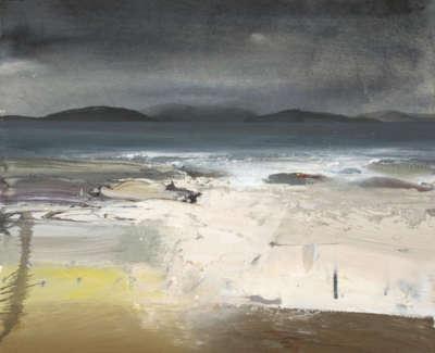 Bushe C Threatening Sky Bright Beach The Sound Of Taransay Mixed Media 36X36