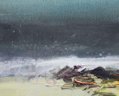 Bushe C Wave Study I Acrylic 16X21