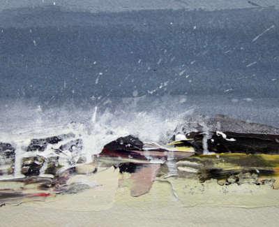 Bushe C Wave Study Iv Acrylic 16X21