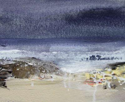 Bushe C Wave Study Viii Acrylic 16X21