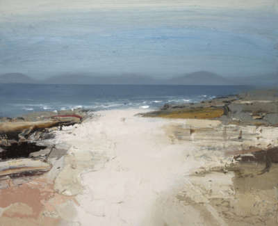 Bushe C White Beach Summer Calm South Harris Oil On Board 60X50