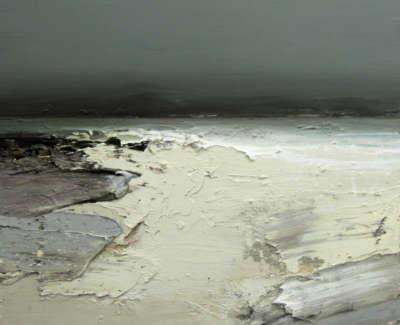 Bushe C Winter Beach Loch Indaal Oil On Board 80X93