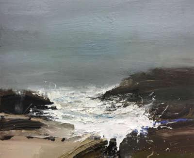 Bushe C Surge Tide Dark Inlet Mixedmedia 50X60