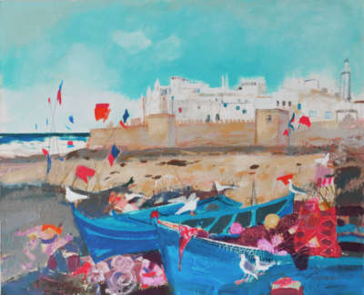 Woodside  C  Kitesand Flags Essaouira Mixed Media