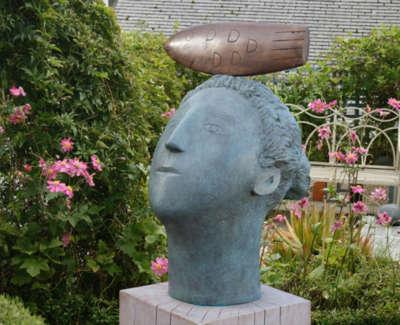 Italian Fisherwoman Bronze Edition 3 Of 3 50 Cm High With Oak Plinth 120 Cm High £9500Web