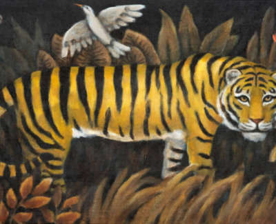 Rendle  D  Jungle Road Acryliconlinenonboard 20X41 5  Sold