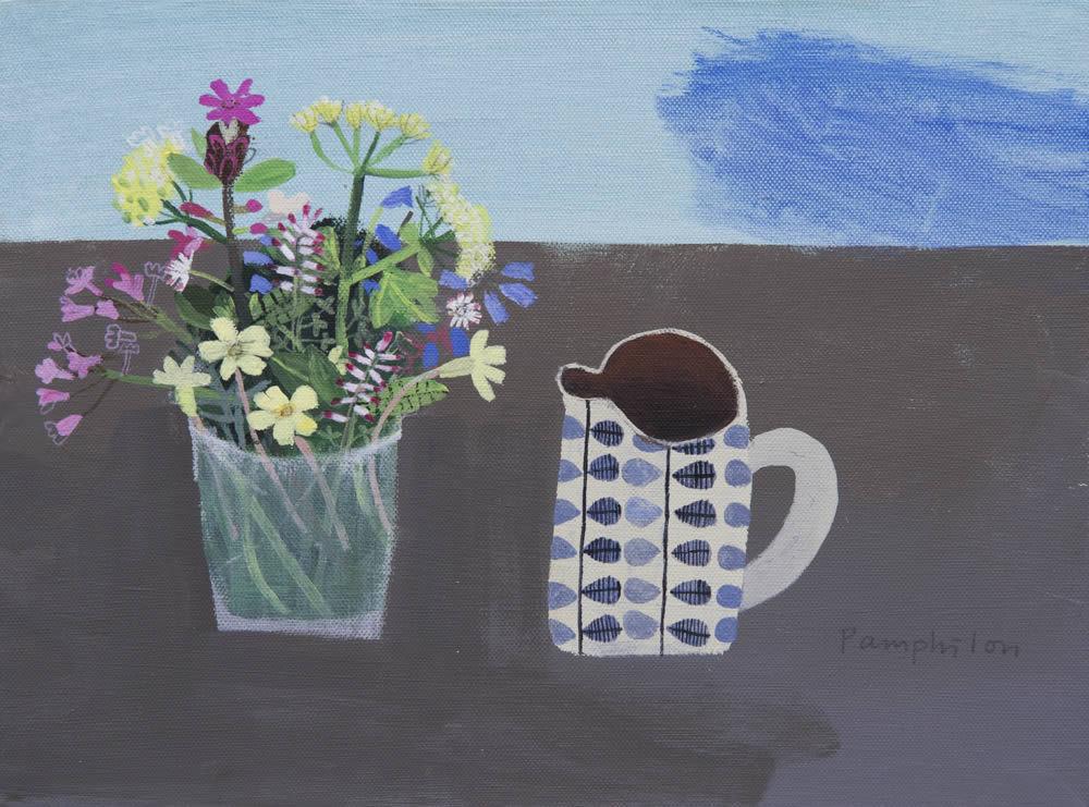 Elaine Pamphilon-伊萊恩Pamphilon美麗的花卉風格-藝術家的靈感充滿活力的用色和自由.自信.的方法繪畫 。。。 - ☆平平.淡淡.也是真☆  - ☆☆。 平平。淡淡。也是真。☆☆ 。