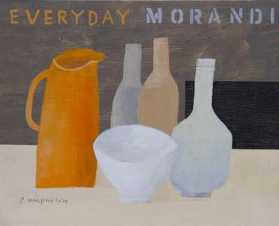 Pamphilon E Everyday Morandi Mixedmediaonwoodenpanel 30X40