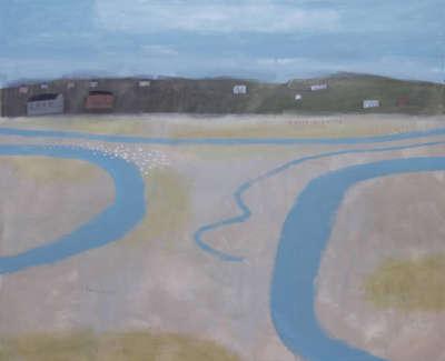 Pamphilon E Hayle Estuary Mixedmediaoncanvas 100X120