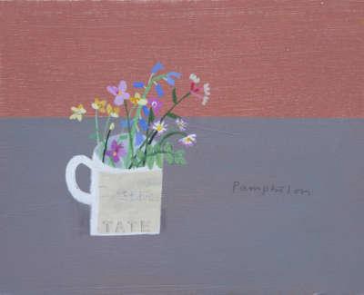 Pamphilon E Simple Flowers Mixedmediaoncanvas 30X40