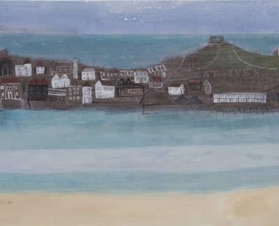Pamphilon E St Ives Cornwall Mixedmediaoncanvas 50X100