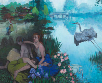 Donald  G  Early Morning Lakeofthe Cranes Acryliconboard 52X59 2100