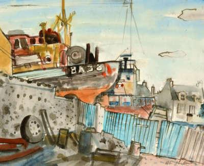 109 Scouller Glen Airds Boatyard Girvan Oilonpapaer 41X52