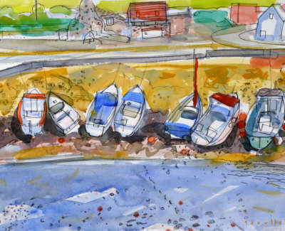 11 Scouller G Small Boats St Abbs Watercolour 53X71 2500