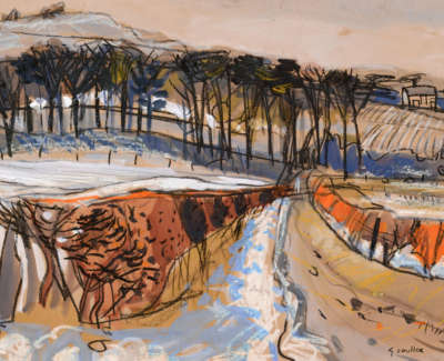 117 Scouller Glen Melting Snow Ayrshire 36X50
