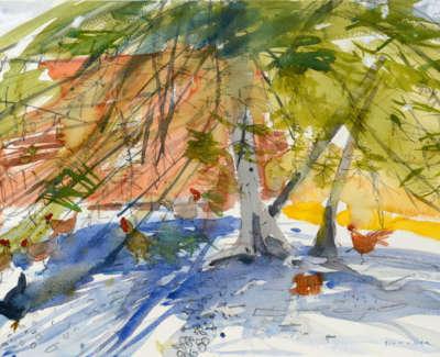 20 Scouller Glen Evening Shadows Falacho Watercolour 53X71 2500