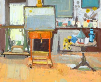 28 Scouller Glen Studio Interior Oilonpanel 80X76 6000