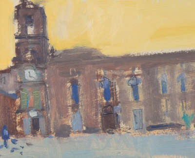 37 Scouller Glen Study The Piazza Martina Franca Oilonpanel 15X36 1200