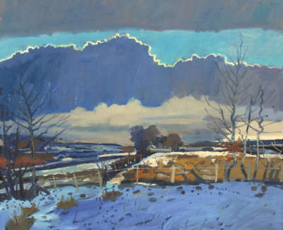 4 Scouller Glen Dusk Winter Irvine Valley Oiloncanvas 122X137