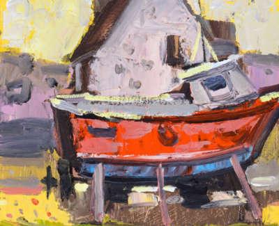 41 Scouller Glen House Boat Onstilts St Abbs Oilonpanel 20X25 1150