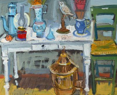 43 Scouller Glen Still Lifeon White Table Oilonpanel 30X41 1500