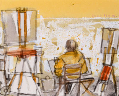 48 Scouller Glen Street Artist Florence Watercolour 15X20 500