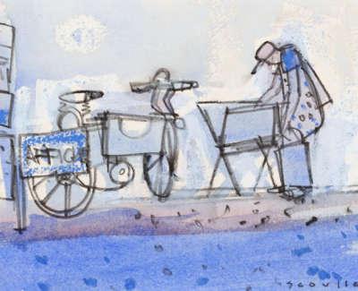 50 Scouller Glen Browsing Prints Collioure Watercolour 14X19 500