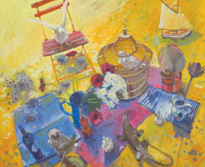 6 Scouller Glen Still Life Studio Floor Oiloncanvas 122X137