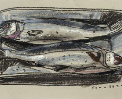 76 Scouller Glen Sea Bass Supper Pastel 24X44 750