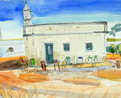 81 Scouller Glen Old Quinta Almancil Algarve Watercolour 53X71