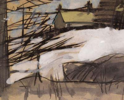 90 Winter Landscape Ayrshire Ii Gouache 28X44 1200