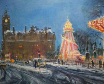 Kondracki  Winter Fun Fair 83X109