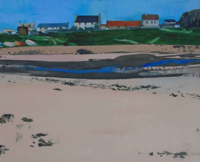 Firth  J  Cottagesbythe Shore Watercolour 51X75