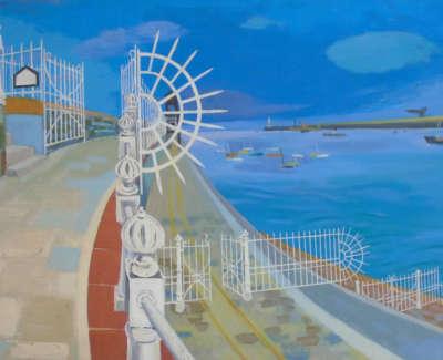Firth  J  Harbour Gates Oiloncanvas 50X64