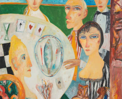 Bellany  J  Celtic Supper Oiloncanvasc1996 152X122