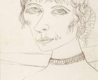 Bellany  J  Diva  Pencil Drawing 36 5X26 5