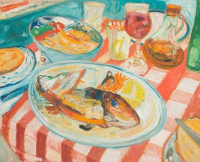 Bellany  J  Fish Supper  Oiloncanvas 61X76