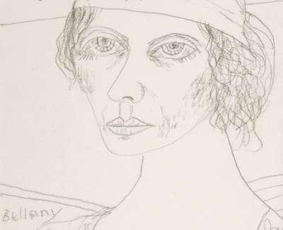 Bellany  J  Italian Maiden  Pencil Drawing 36 5X26 5