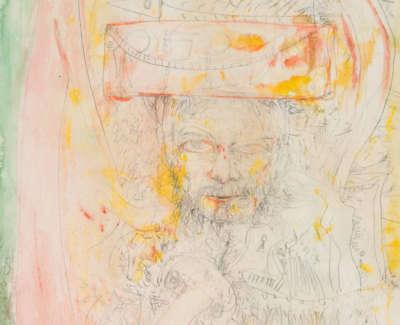 Bellany  J  Self Portrait Watercolourandpencil 76X56