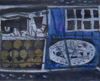 Gibbs  J  Night Kitchen Iii Oiloncanvasonboard 26X40
